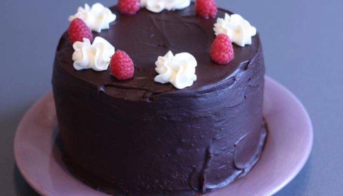 Dark & White Chocolate Raspberry Cake